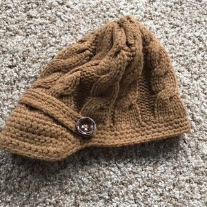 Accessories - Mustard knitted cap in One Size Fits All.